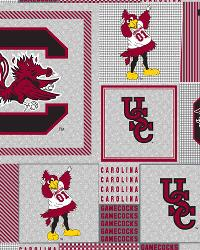 Beige College Fleece Fabric  South Carolina Gamecocks Back to School Fleece