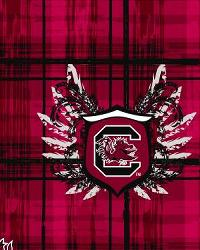South Carolina Gamecocks Plaid Cotton Print by