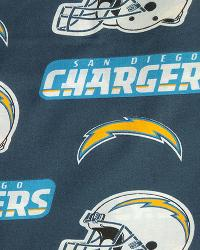 San Diego Chargers Cotton Print by