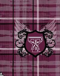 Texas AM Aggies Plaid Cotton Print by