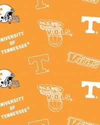 Tennessee Volunteers Cotton Print - Orange by