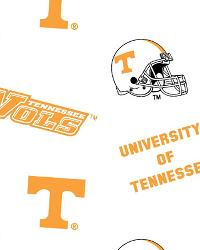 Tennessee Volunteers Cotton Print - White by