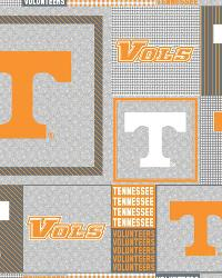 Beige College Fleece Fabric  Tennessee Volunteers Back to School Fleece