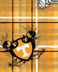 Tennessee Volunteers Plaid Cotton Print by