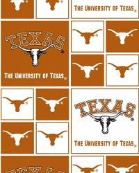 Texas Longhorns Block Cotton Print by