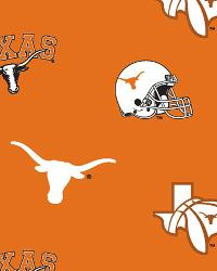 Beige College Fleece Fabric  Texas Longhorns Fleece
