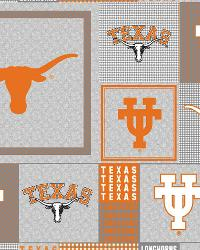 Beige College Fleece Fabric  Texas Longhorns Back to School Fleece