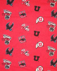 Utah Utes Cotton Print - Red by