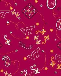 Virginia Tech Hokies Bandana Cotton Print by