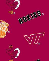 Virginia Tech Hokies Red Fleece by