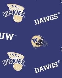 Washington Huskies Blue Fleece by