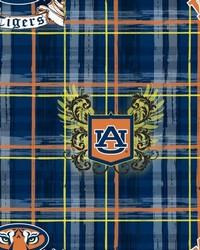 Auburn Tigers Plaid Cotton Print by