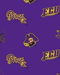 East Carolina Pirates Purple Fleece by
