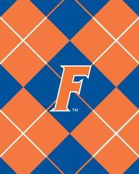 College Fleece Fabric  Florida Gators Argyle Fleece