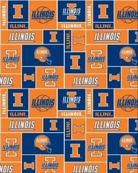 Illinois Illini Block Fleece by