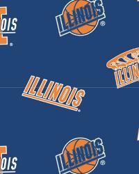 Illinois Illini Blue Fleece by