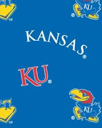 Kansas Jayhawks Blue Cotton Print by
