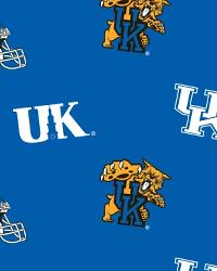 Beige College Fleece Fabric  Kentucky Wildcats Blue Fleece