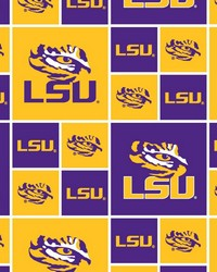Louisiana State Tigers Cotton Print by