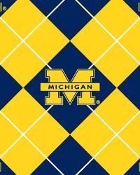 Michigan Wolverines Argyle Fleece by