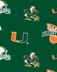 Miami Hurricanes Green Fleece by