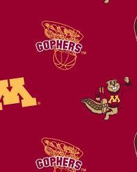 College Fleece Fabric  Minnesota Golden Gophers Red Fleece
