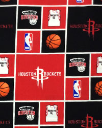 NBA Houston Rockets Cotton Fabric by