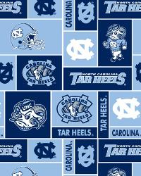 College Fleece Fabric  North Carolina Tar Heels Block Fleece