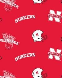College Fleece Fabric  Nebraska Cornhuskers Red Fleece