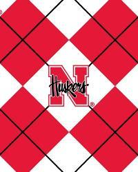 College Fleece Fabric  Nebraska Cornhuskers Argyle Fleece