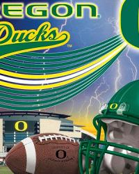 Fleece Fabric Panels  Oregon Ducks Fleece Panel