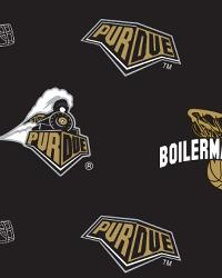 Beige College Fleece Fabric  Purdue Boilermakers Black Fleece