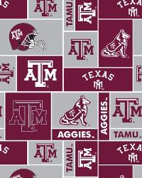 College Fleece Fabric  Texas AM Aggies Block Fleece