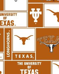 College Fleece Fabric  Texas Longhorns Block Fleece