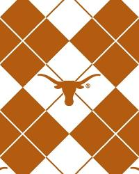 Beige College Fleece Fabric  Texas Longhorns Argyle Fleece