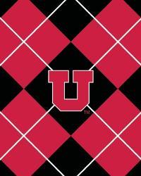 College Fleece Fabric  Utah Utes Argyle Fleece