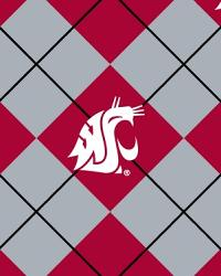 College Fleece Fabric  Washington State Cougars Argyle Fleece