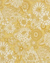 Yellow Modern Floral Designs Fabric  A3893 Mimosa