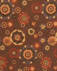 Red Modern Floral Designs Fabric  A3903 Sienna