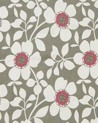 Grey Modern Floral Designs Fabric  A3908 Graphite