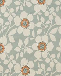 Blue Modern Floral Designs Fabric  A3914 Seamist