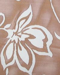 Brown Medium Print Floral Fabric  Gladys Espresso Blue