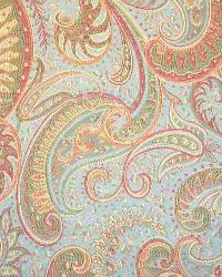 Blue Classic Paisley Fabric  Amanda Scroll Teal