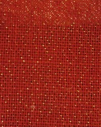Burlap Sultana Red Sparkle by