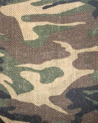Camouflage Burlap Woodlands Green by