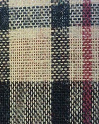 Plaid Burlap Red Black by