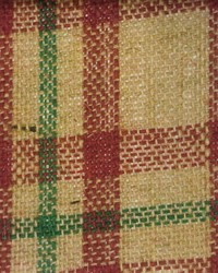 Plaid Burlap Red Green by