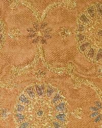 Orange Floral Diamond Fabric  Amesbury Trellis Antique