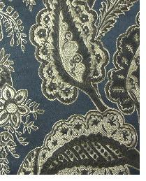 Black Medium Print Floral Fabric  Babson Midnight