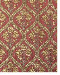 Red Small Print Floral Fabric  Bargrove Cinnabar